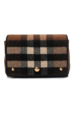 Женская сумка hackberry BURBERRY коричневого цвета, арт. 8047076   Фото 1 (Ремень/цепочка: На ремешке; Материал: Текстиль; Размер: mini; Сумки-технические: Сумки через плечо)