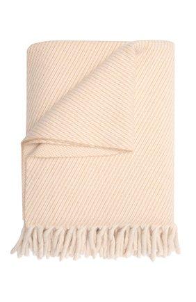 Кашемировый плед LORO PIANA светло-бежевого цвета, арт. FAL9650 | Фото 1