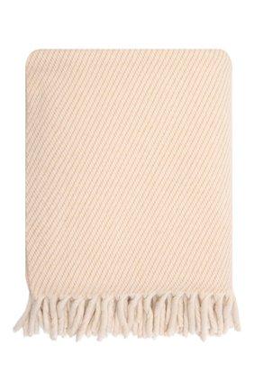 Кашемировый плед LORO PIANA светло-бежевого цвета, арт. FAL9650 | Фото 2