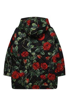 Детская стеганая куртка DOLCE & GABBANA черного цвета, арт. L5JBJV/FSSG0/8-14   Фото 2 (Материал подклада: Синтетический материал; Материал внешний: Синтетический материал; Рукава: Длинные)