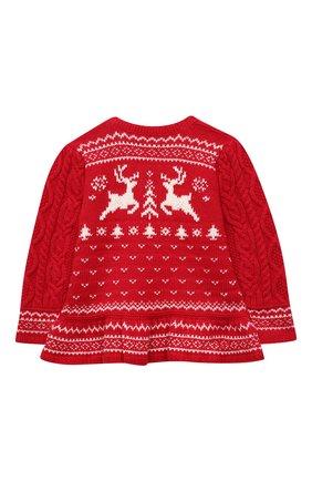 Детский пуловер из хлопка и шерсти POLO RALPH LAUREN красного цвета, арт. 310853160 | Фото 2 (Материал внешний: Хлопок; Рукава: Длинные)