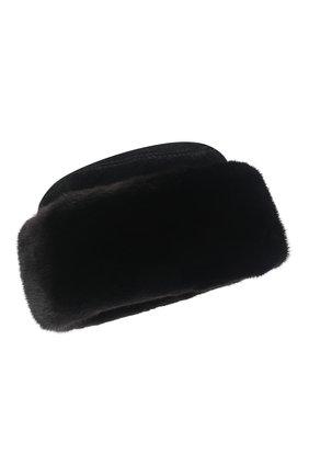 Мужская шапка с отделкой из меха норки KUSSENKOVV черного цвета, арт. 348502802133 | Фото 1 (Материал: Натуральный мех)