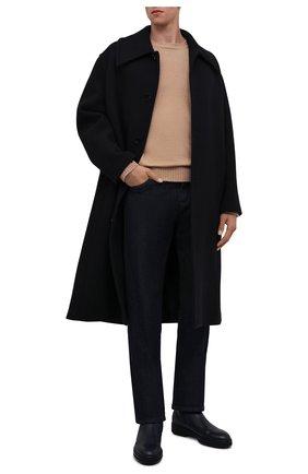 Мужские кожаные челси ZILLI темно-синего цвета, арт. MDW-A100/002 | Фото 2 (Подошва: Массивная; Материал внутренний: Текстиль; Мужское Кросс-КТ: Челси-обувь, Сапоги-обувь)