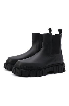Мужские кожаные челси FENDI черного цвета, арт. 7U1446 AD7Q | Фото 1 (Материал внутренний: Натуральная кожа; Каблук высота: Высокий; Подошва: Массивная; Мужское Кросс-КТ: Челси-обувь, Сапоги-обувь)