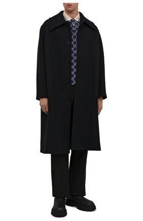 Мужские кожаные челси FENDI черного цвета, арт. 7U1446 AD7Q | Фото 2 (Материал внутренний: Натуральная кожа; Каблук высота: Высокий; Подошва: Массивная; Мужское Кросс-КТ: Челси-обувь, Сапоги-обувь)
