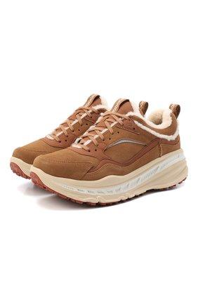 Мужские замшевые кроссовки ca805 spill seam UGG коричневого цвета, арт. 1114150_CHE | Фото 1 (Материал внешний: Экокожа; Материал внутренний: Текстиль; Стили: Гранж)