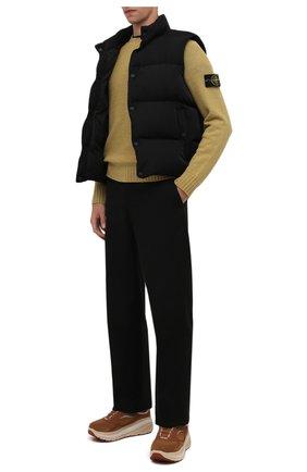 Мужские замшевые кроссовки ca805 spill seam UGG коричневого цвета, арт. 1114150_CHE | Фото 2 (Материал внешний: Экокожа; Материал внутренний: Текстиль; Стили: Гранж)