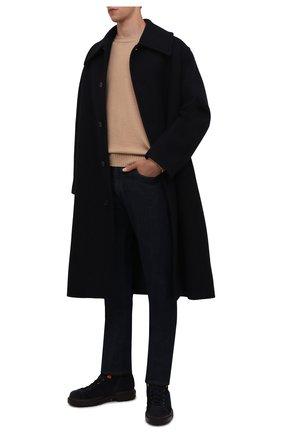 Мужские замшевые ботинки SANTONI темно-синего цвета, арт. MGSG17859DDAKWRNU60 | Фото 2 (Материал внутренний: Текстиль, Натуральная кожа; Подошва: Массивная; Материал внешний: Замша; Мужское Кросс-КТ: Ботинки-обувь, зимние ботинки)