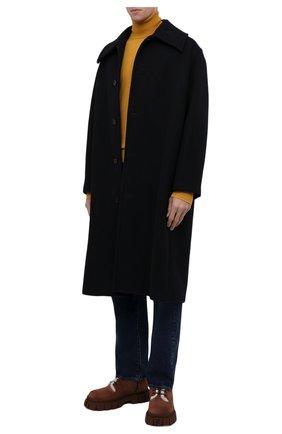 Мужские замшевые ботинки FENDI коричневого цвета, арт. 7U1448 AGD6 | Фото 2 (Материал утеплителя: Натуральный мех; Каблук высота: Высокий; Подошва: Массивная; Материал внешний: Замша; Мужское Кросс-КТ: Ботинки-обувь, зимние ботинки)