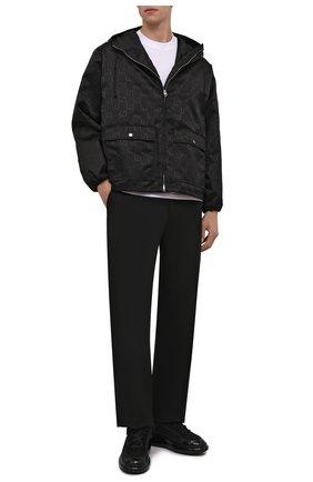 Мужские комбинированные кеды ALEXANDER MCQUEEN черного цвета, арт. 667826/W4QE1 | Фото 2 (Материал внутренний: Текстиль, Натуральная кожа; Подошва: Массивная; Материал внешний: Текстиль)