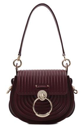 Женская сумка tess small CHLOÉ бордового цвета, арт. CHC21WS153F29   Фото 1 (Размер: small; Ремень/цепочка: На ремешке; Материал: Натуральная кожа; Сумки-технические: Сумки через плечо)