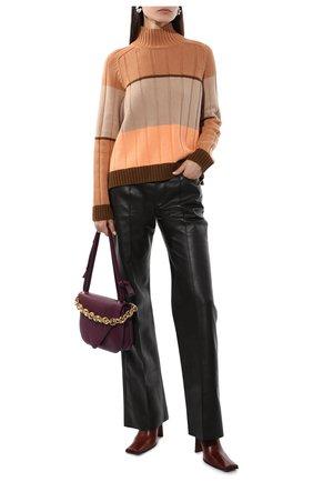 Женский кашемировый свитер LORO PIANA оранжевого цвета, арт. FAL7027 | Фото 2 (Материал внешний: Шерсть, Кашемир; Женское Кросс-КТ: Свитер-одежда; Стили: Кэжуэл; Рукава: Длинные; Длина (для топов): Стандартные)