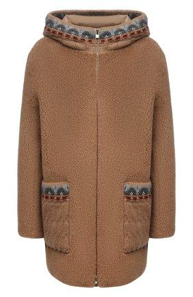 Женская двусторонняя куртка LORO PIANA бежевого цвета, арт. FAL8904 | Фото 1 (Рукава: Длинные; Длина (верхняя одежда): До середины бедра; Материал внешний: Шерсть, Кашемир; Материал подклада: Синтетический материал; Кросс-КТ: Куртка; Стили: Кэжуэл)