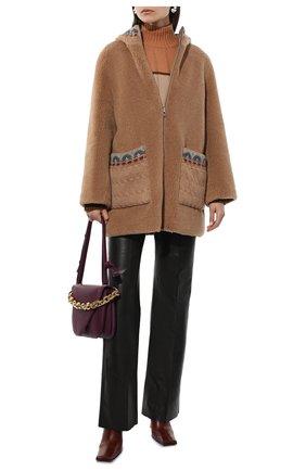Женская двусторонняя куртка LORO PIANA бежевого цвета, арт. FAL8904 | Фото 2 (Рукава: Длинные; Длина (верхняя одежда): До середины бедра; Материал внешний: Шерсть, Кашемир; Материал подклада: Синтетический материал; Кросс-КТ: Куртка; Стили: Кэжуэл)