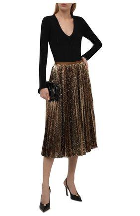 Женская юбка с пайетками POLO RALPH LAUREN золотого цвета, арт. 211846909 | Фото 2 (Материал подклада: Синтетический материал; Материал внешний: Синтетический материал; Длина Ж (юбки, платья, шорты): Миди; Женское Кросс-КТ: Юбка-одежда; Стили: Гламурный)