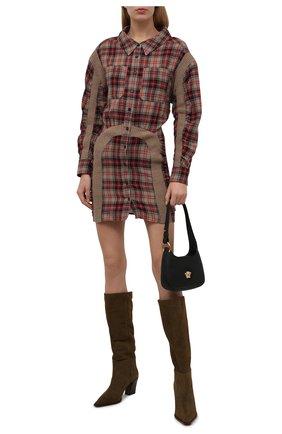 Женское шерстяное платье STELLA MCCARTNEY разноцветного цвета, арт. 603890/SSA50 | Фото 2 (Рукава: Длинные; Материал внешний: Шерсть; Длина Ж (юбки, платья, шорты): Мини; Женское Кросс-КТ: Платье-одежда, платье-рубашка; Случай: Повседневный; Стили: Гранж)