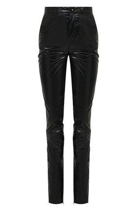 Женские брюки DOLCE & GABBANA черного цвета, арт. FTB9DT/HUMFB | Фото 1 (Длина (брюки, джинсы): Удлиненные; Материал внешний: Синтетический материал; Женское Кросс-КТ: Брюки-одежда; Силуэт Ж (брюки и джинсы): Прямые; Стили: Гранж)