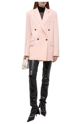 Женские брюки DOLCE & GABBANA черного цвета, арт. FTB9DT/HUMFB | Фото 2 (Длина (брюки, джинсы): Удлиненные; Материал внешний: Синтетический материал; Женское Кросс-КТ: Брюки-одежда; Силуэт Ж (брюки и джинсы): Прямые; Стили: Гранж)