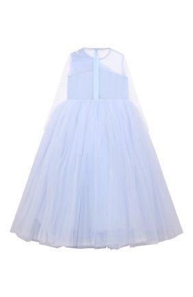 Детское платье star SASHA KIM голубого цвета, арт. УТ-00000546   Фото 2 (Материал внешний: Синтетический материал; Материал подклада: Вискоза; Рукава: Длинные)