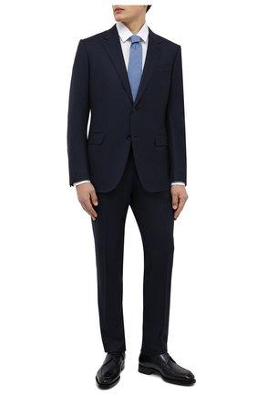 Мужская хлопковая сорочка BOSS белого цвета, арт. 50450147   Фото 2 (Материал внешний: Хлопок; Длина (для топов): Стандартные; Рукава: Длинные; Случай: Формальный; Принт: Однотонные; Рубашки М: Slim Fit; Манжеты: На пуговицах; Воротник: Кент; Стили: Классический)