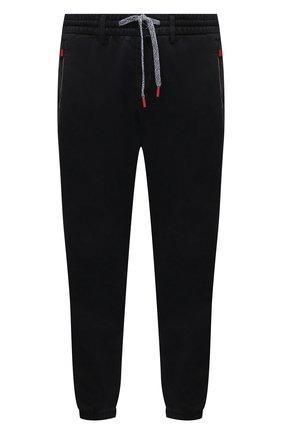 Мужские джоггеры KITON черного цвета, арт. UFPPZJ0344A   Фото 1 (Материал внешний: Хлопок, Лиоцелл; Силуэт М (брюки): Джоггеры; Стили: Кэжуэл; Длина (брюки, джинсы): Стандартные; Big sizes: Big Sizes)