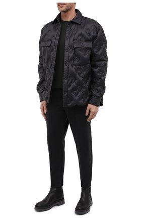 Мужские джоггеры KITON черного цвета, арт. UFPPZJ0344A   Фото 2 (Материал внешний: Хлопок, Лиоцелл; Силуэт М (брюки): Джоггеры; Стили: Кэжуэл; Длина (брюки, джинсы): Стандартные; Big sizes: Big Sizes)