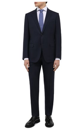 Мужская хлопковая сорочка LUIGI BORRELLI белого цвета, арт. SR4120/ACHILLE/ST/EV/PC   Фото 2 (Материал внешний: Хлопок; Рукава: Длинные; Длина (для топов): Стандартные; Случай: Формальный; Принт: Однотонные; Рубашки М: Super Slim Fit; Манжеты: На пуговицах; Воротник: Акула; Стили: Классический)