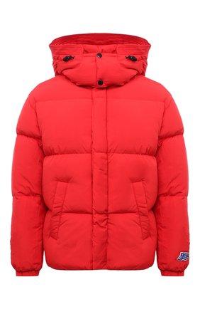 Мужская пуховая куртка DIESEL красного цвета, арт. A03143/0AEAI   Фото 1 (Материал утеплителя: Пух и перо; Материал подклада: Синтетический материал; Длина (верхняя одежда): Короткие; Материал внешний: Синтетический материал; Рукава: Длинные; Кросс-КТ: Куртка; Мужское Кросс-КТ: пуховик-короткий; Стили: Гранж)