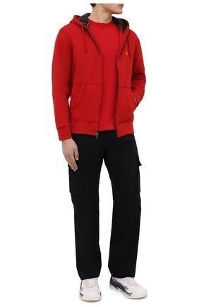 Мужской толстовка POLO RALPH LAUREN красного цвета, арт. 710853207   Фото 2 (Материал внешний: Хлопок, Синтетический материал; Мужское Кросс-КТ: Толстовка-одежда; Стили: Спорт-шик)