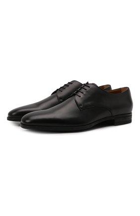 Мужские кожаные дерби BOSS черного цвета, арт. 50385015 | Фото 1 (Материал внутренний: Натуральная кожа; Стили: Классический)
