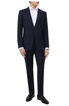 Мужские кожаные дерби BOSS черного цвета, арт. 50385015 | Фото 2 (Материал внутренний: Натуральная кожа; Стили: Классический)