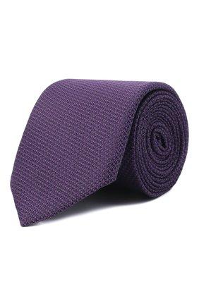 Мужской галстук BOSS фиолетового цвета, арт. 50466718   Фото 1 (Материал: Текстиль, Синтетический материал; Принт: С принтом)