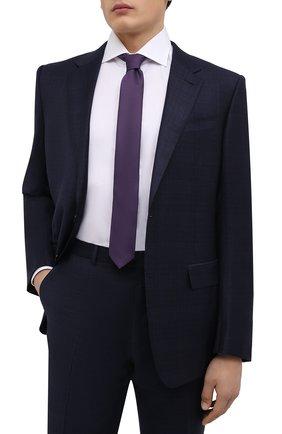 Мужской галстук BOSS фиолетового цвета, арт. 50466718   Фото 2 (Материал: Текстиль, Синтетический материал; Принт: С принтом)