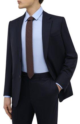 Мужской галстук из хлопка и шерсти BOSS коричневого цвета, арт. 50467116 | Фото 2 (Материал: Текстиль, Хлопок, Шерсть; Принт: С принтом)