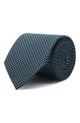 Мужской галстук BOSS бирюзового цвета, арт. 50466718 | Фото 1 (Материал: Текстиль, Синтетический материал; Принт: С принтом)