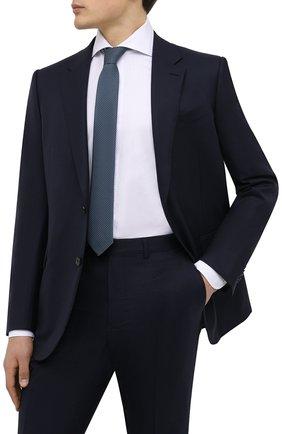 Мужской галстук BOSS бирюзового цвета, арт. 50466718 | Фото 2 (Материал: Текстиль, Синтетический материал; Принт: С принтом)