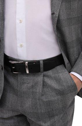 Мужской кожаный ремень ZILLI черного цвета, арт. MJL-CLAQE-01805/0076/120-130   Фото 2 (Случай: Формальный)