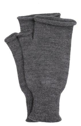 Мужские шерстяные митенки MAISON MARGIELA серого цвета, арт. S51TS0055/S17844 | Фото 1 (Материал: Шерсть; Кросс-КТ: Трикотаж)