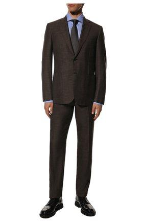 Мужские кожаные дерби SANTONI черного цвета, арт. MCCG17872JW2IPWEN01 | Фото 2 (Материал внутренний: Натуральная кожа; Стили: Классический; Мужское Кросс-КТ: Броги-обувь)