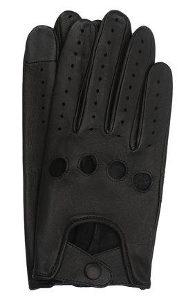Мужские кожаные перчатки steeve AGNELLE черного цвета, арт. STEEVE | Фото 1 (Мужское Кросс-КТ: Кожа и замша)