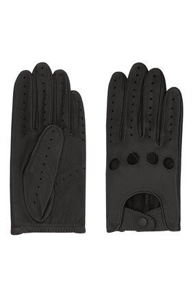 Мужские кожаные перчатки steeve AGNELLE черного цвета, арт. STEEVE | Фото 2 (Мужское Кросс-КТ: Кожа и замша)