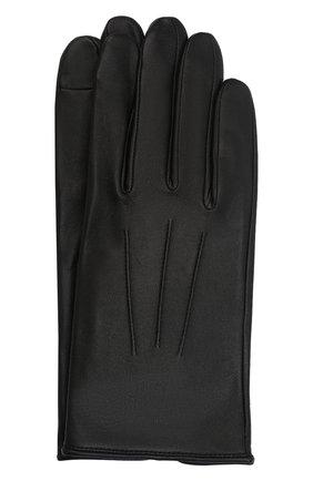 Мужские кожаные перчатки AGNELLE черного цвета, арт. SLIMMERCURY/S | Фото 1 (Мужское Кросс-КТ: Кожа и замша)