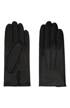 Мужские кожаные перчатки AGNELLE черного цвета, арт. SLIMMERCURY/S | Фото 2 (Мужское Кросс-КТ: Кожа и замша)