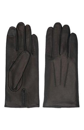 Мужские кожаные перчатки AGNELLE черного цвета, арт. SLIMMERCURY/C100 | Фото 2 (Мужское Кросс-КТ: Кожа и замша)