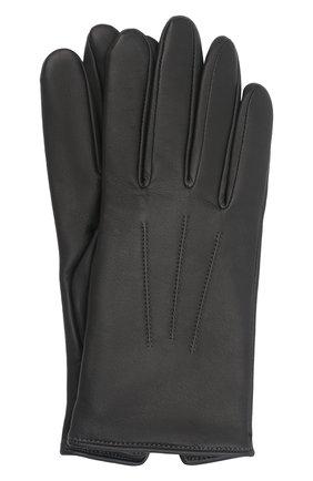 Мужские кожаные перчатки AGNELLE темно-серого цвета, арт. SLIMMERCURY/C100 | Фото 1 (Мужское Кросс-КТ: Кожа и замша)