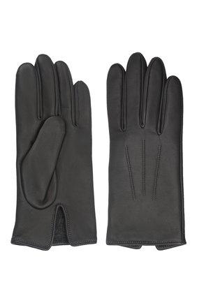Мужские кожаные перчатки AGNELLE темно-серого цвета, арт. SLIMMERCURY/C100 | Фото 2 (Мужское Кросс-КТ: Кожа и замша)