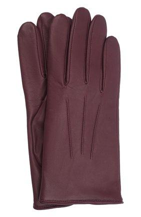 Мужские кожаные перчатки AGNELLE бордового цвета, арт. SLIMMERCURY/C100 | Фото 1 (Мужское Кросс-КТ: Кожа и замша)