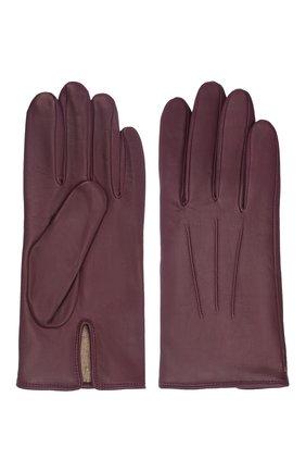 Мужские кожаные перчатки AGNELLE бордового цвета, арт. SLIMMERCURY/C100 | Фото 2 (Мужское Кросс-КТ: Кожа и замша)