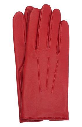 Мужские кожаные перчатки AGNELLE красного цвета, арт. SLIMMERCURY/C100 | Фото 1 (Мужское Кросс-КТ: Кожа и замша)