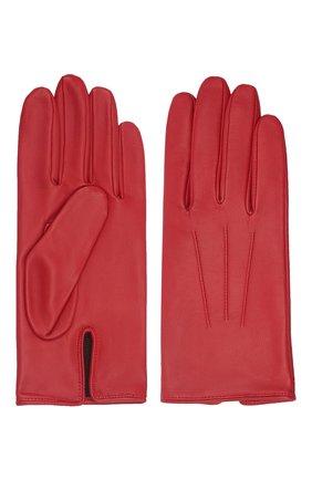 Мужские кожаные перчатки AGNELLE красного цвета, арт. SLIMMERCURY/C100 | Фото 2 (Мужское Кросс-КТ: Кожа и замша)